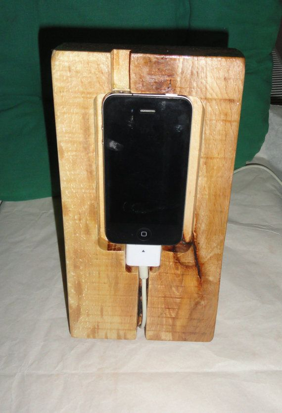 Iphone 4/4s, charging docking station, beech wood, eco friendly on Etsy, $37.00