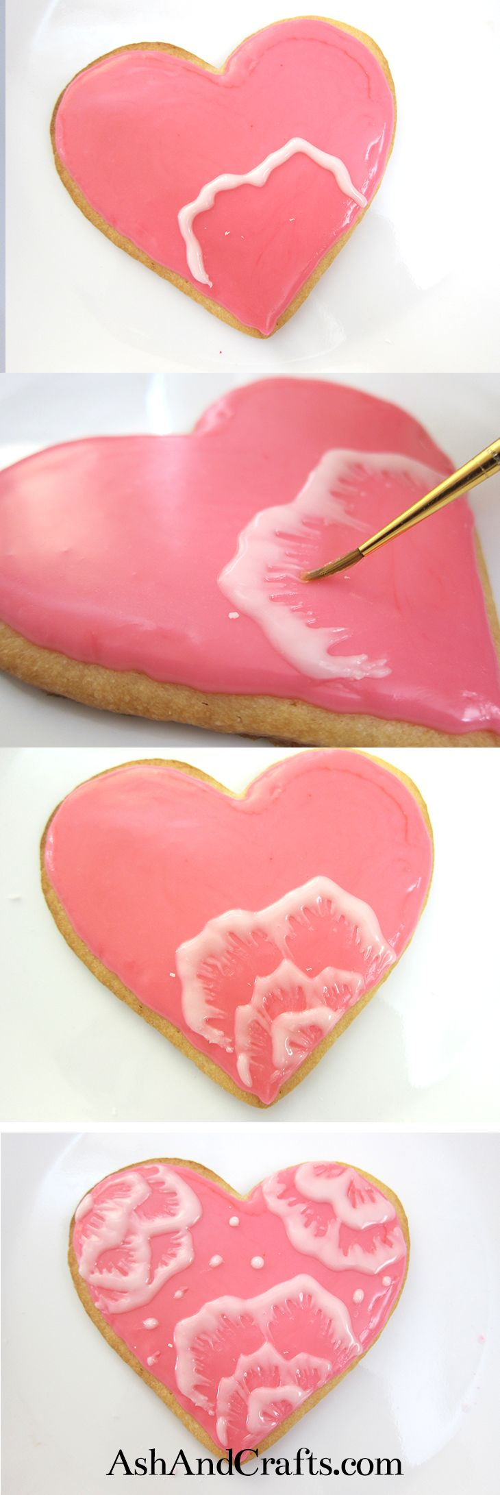 Learn how to decorate cookies with pretty flowers using the brush embroidery technique. It is really easy to do and looks impressive!