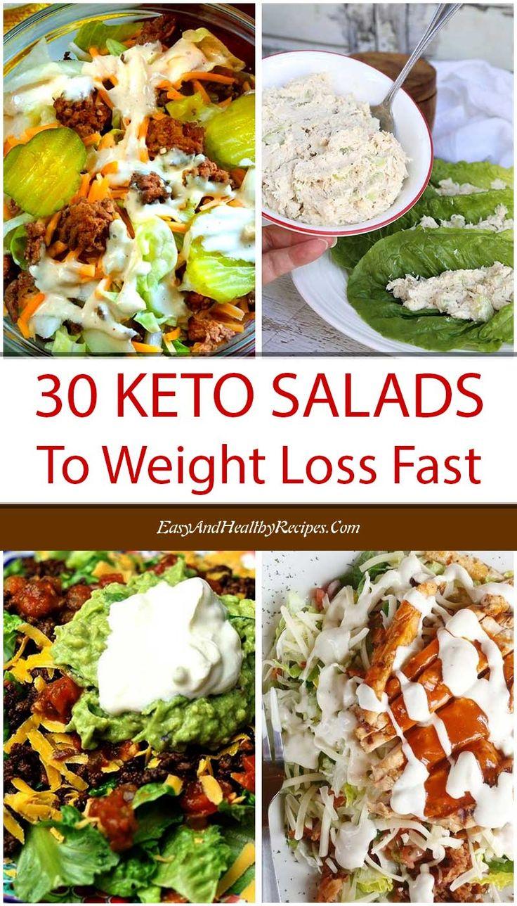 30 besten Keto-Salat-Rezepte zum schnellen Abnehmen