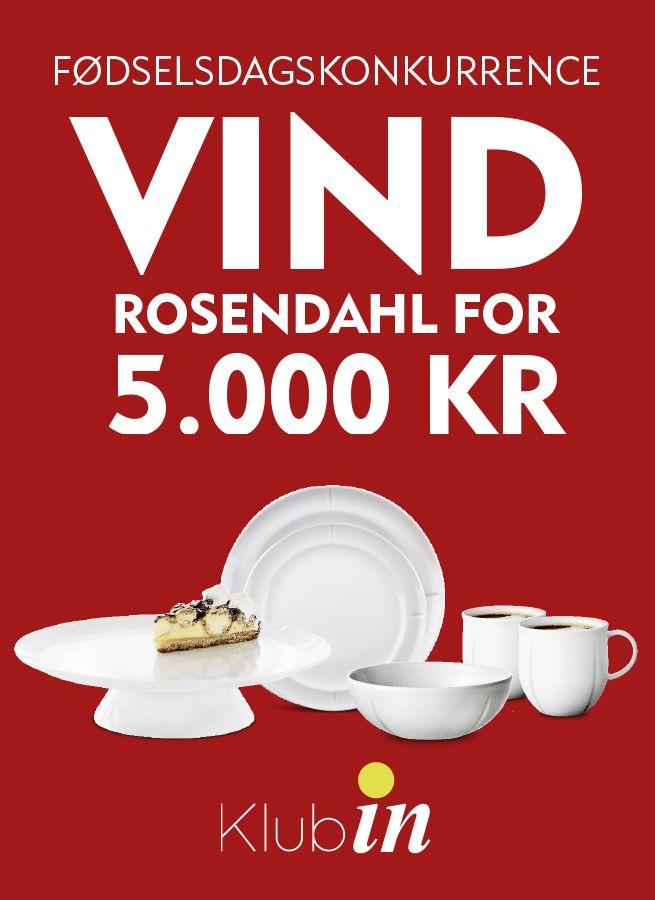 VIND ROSENDAHL FOR 5.000 KR. Nu får 5 heldige Klub IN-medlemmer frit valg i hele Rosendahls store sortiment af lækre varer, f.eks.  den populære Grand Cru serie. Tilmeld dig Klub IN her. SIDSTE FRIST FOR DELTAGELSE D. 26 MARTS. #inspirationdk