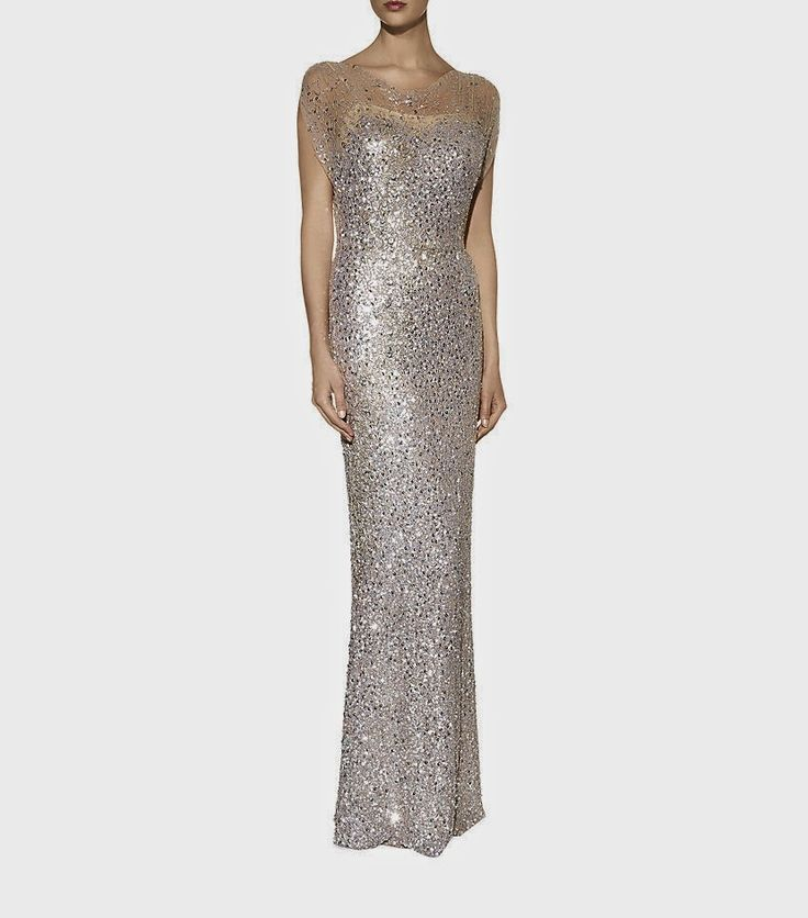 Fantastic quality evening dress for your upmarket fashion loving woman!  #Jenny #Packham #Embellished Cluster Gown