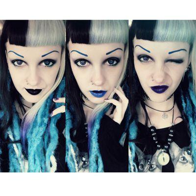 black, blue and purple lipstick www.attitudeholland.nl