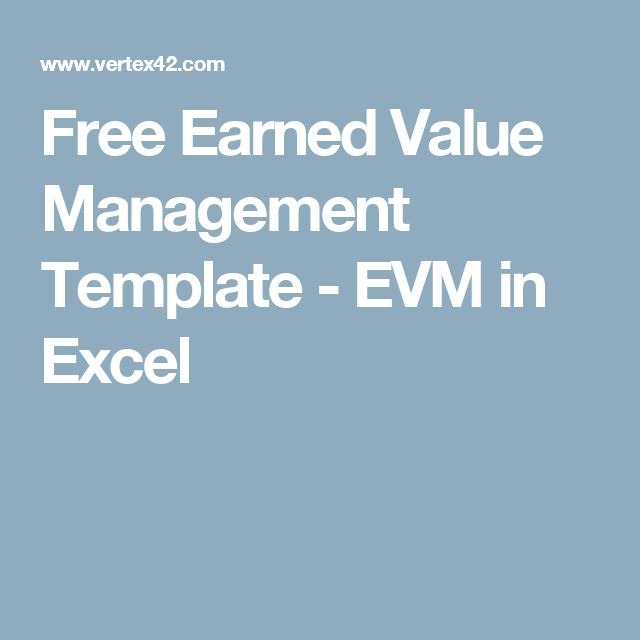 Free Earned Value Management Template - EVM in Excel