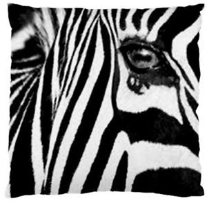 Zebra-Decorative-Throw-Pillow-Cushion-Cover-Reversible-Black-And-White-50x50cm