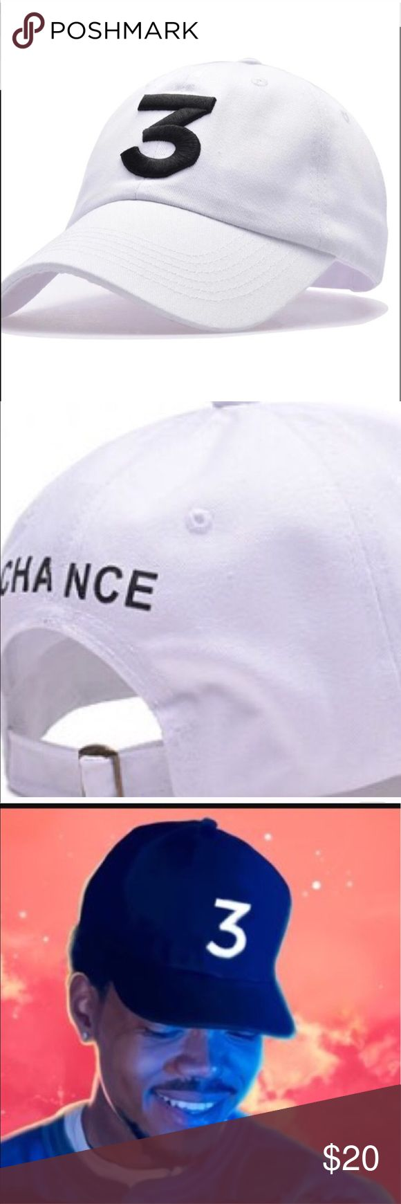 Chance the Rapper White 3 Hat Chance the Rapper White 3 Hat Accessories Hats