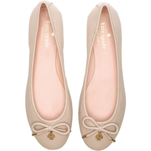 kate spade new york Willa Flat Shoes ($191) ❤ liked on Polyvore featuring shoes, flats, kate spade, flat pumps, flat heel shoes, bow shoes and bow flats