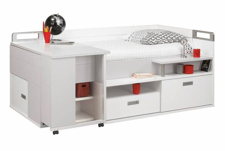 Lit compact bas 90x200+bureau Dimix