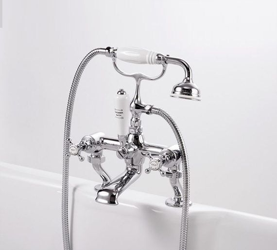 Edwards & Co Bath Shower Mixer - Superior British made ceramic disc taps make a classic addition to a vintage style bathroom