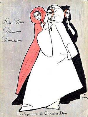 model's own: Vintage Dior Advertising ~ 3 Perfumes