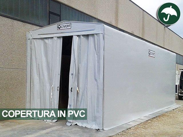 #Copertura in #PVC per ampliare gli spazi coperti dello stabilimento di Farmec srl in provincia di #Pescara
