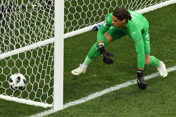 Switzerland S Goalkeeper Yann Sommer Takes Costa Rica S First Goal Goalkeeper World Cup Groups World Cup