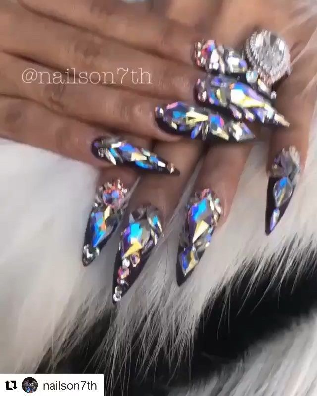 Pin By Angel1213 On Cardi B In 2019 Cardi B Nails Nails
