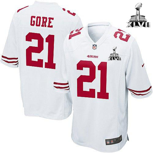 dd9d5482b ... NFL NIKE San Francisco 49ers http21 Frank Gore White Color With (Game  Nike Womens Ahmad Brooks White Super Bowl XLVII Jersey) ...