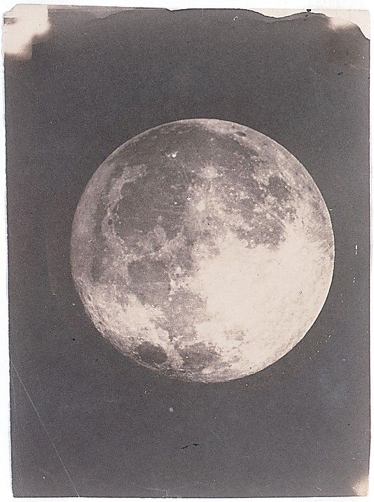 In December 1849, John Whipple made his first photograph of the moon, a daguerreotype taken through the telescope at the Harvard College Observatory in Cambridge.  Although he did not make the first lunar photograph in America, in terms of accuracy and aesthetics Whipple produced what were internationally recognized as the most sublime photographs of the moon.