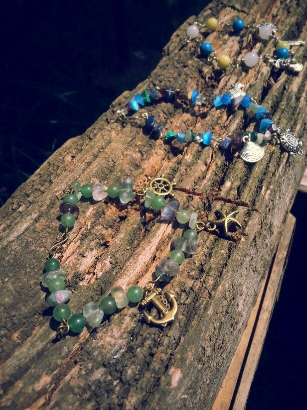 Colorful bracelets with summer charms <3