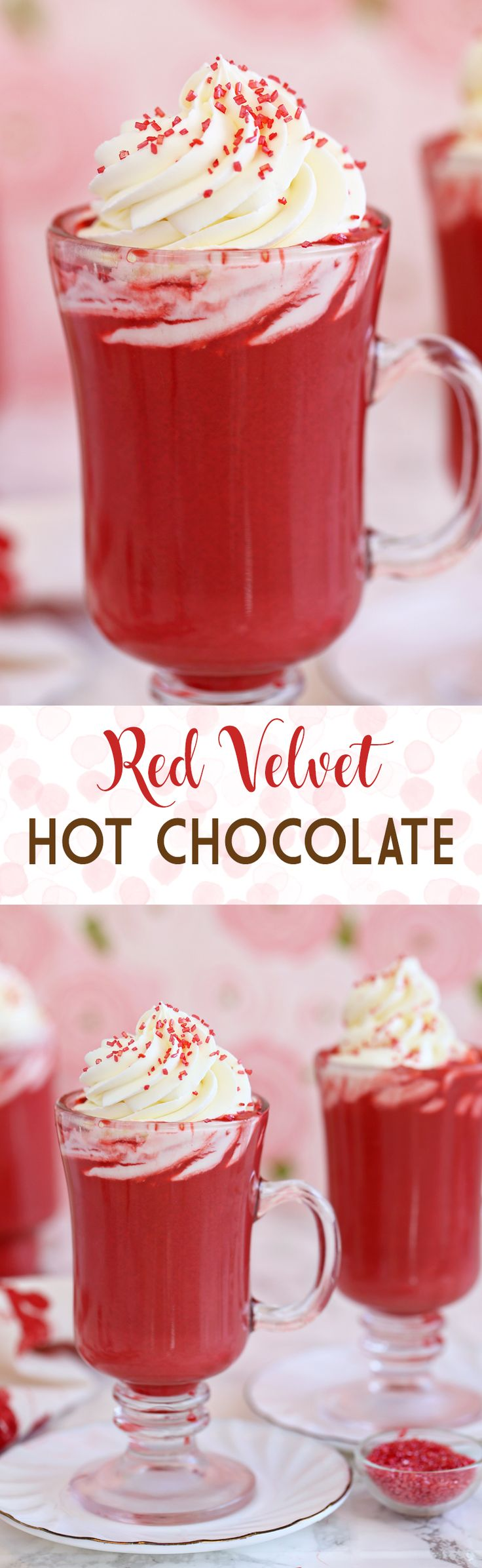 Red Velvet Hot Chocolate - with cream cheese whipped cream!