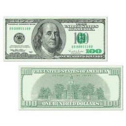 Decoratie Dollar Bill cutout -  Een decoratie van een dollar biljet. Aan beide zeiden bedrukt. Afmeting: 43 x 18cm. Leuke versiering voor USA feesten! | www.feestartikelen.nl