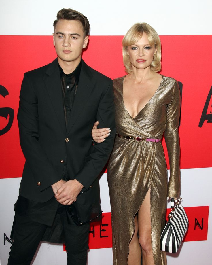 Pamela Anderson & Son Brandon: Premiere Pals - http://site.celebritybabyscoop.com/cbs/2015/03/13/anderson-brandon-premiere #Baywatch, #BrandonLee, #MotleyCrue, #PamelaAnderson, #TheGunman, #TommyLee