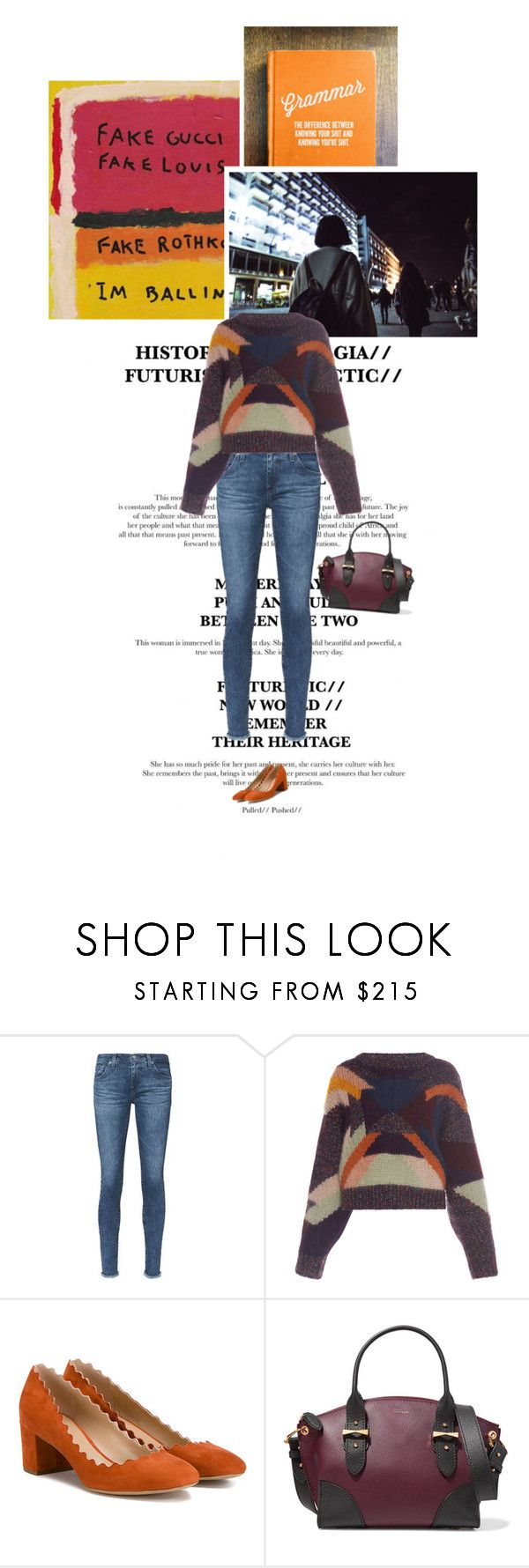 """""""Sans titre #821"""" by clo-egral on Polyvore featuring mode, AG Adriano Goldschmied, Isabel Marant et Alexander McQueen"""