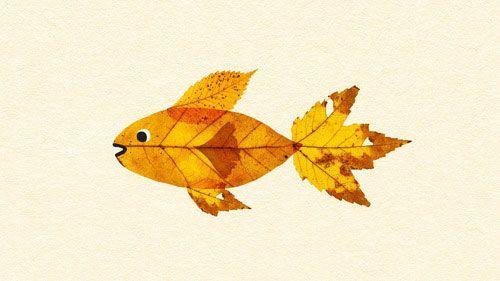 Lavoretto Foglie Autunnali Pesce