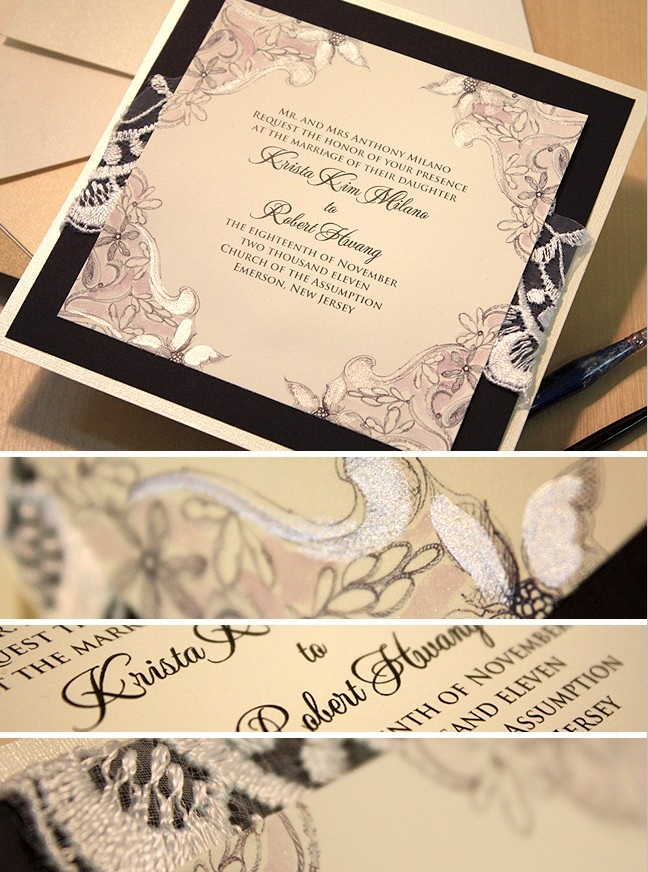 black and white lace invitation 164 best