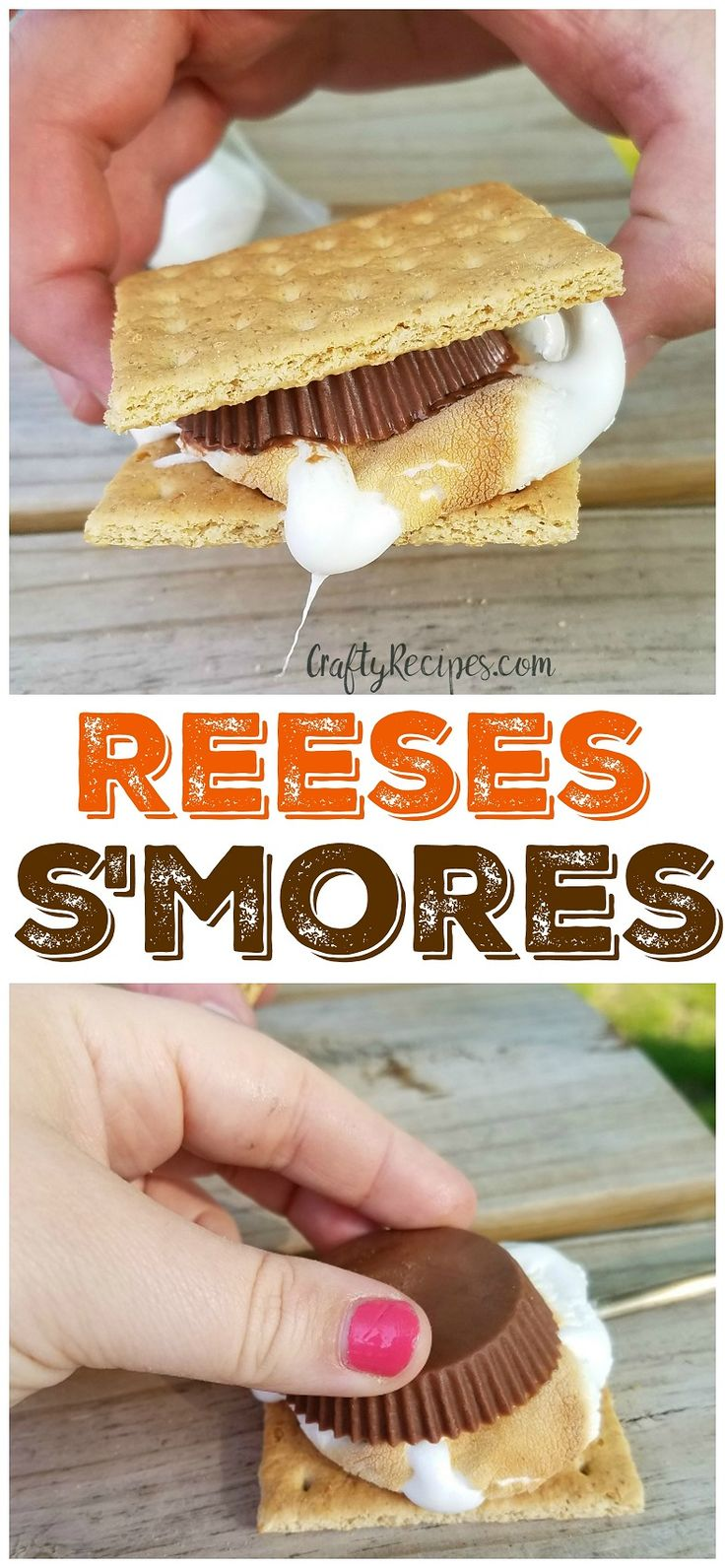 Reeses s'mores...oh my goodness these were peanut buttery and delicious! Fun camping dessert