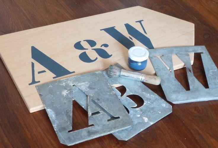 A-W Panneau pochoir zinc