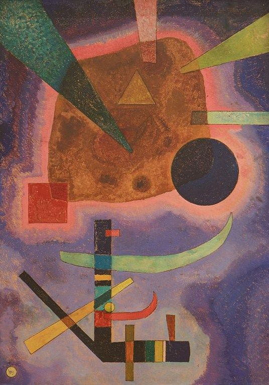 THREE ELEMENTS, 1925 Oil on cardboard #kandinsky #kandinski #kandinskij #abstraction #abstractart http://www.wassilykandinsky.net/work-732.php