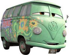Bully (Fillmore) ist hellgrün lackiert und ihn schmückt eine farbenfrohe Blumenkette. Ein bunter Regenbogen und der Stern zieren die Seiten des Disney-Cars und stehen als Symbol für ein freies Leben. Häufig hat Bully auch Kopfhörer auf und hört dabei am liebsten Musik von Idol Jimi Hendrix.