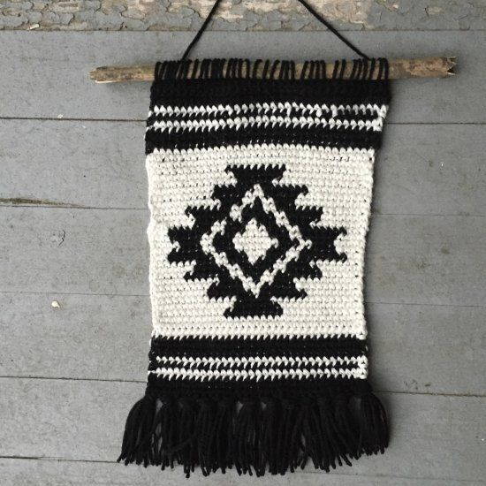 A simple tutorial for creating a beautiful crocheted wall hanging.