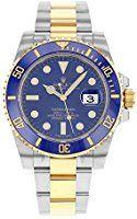 Rolex Submariner De Oro Amarillo De Oro Amarillo Reloj De Cerámica Azul 116613 Caja / Papeles 2016