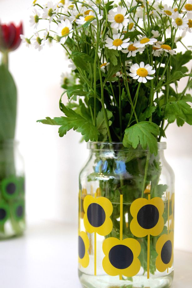 Orla Kiely for Douwe Egberts - how will you upcycle your coffee jar? - make blue version of yellow?