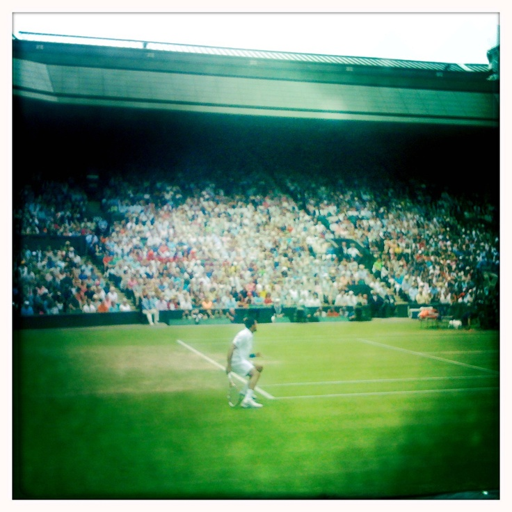Within arms reach, hoping to sit on Henman hill during the finals, but alas no grounds tickets available Wimbledon