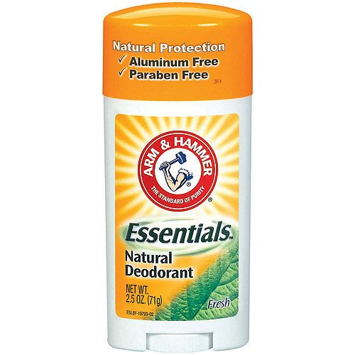 Arm & Hammer - Natural Deodorant. Aluminum free and Paraben free! I don't know if this product is alcohol free, but at least it's Aluminum free!