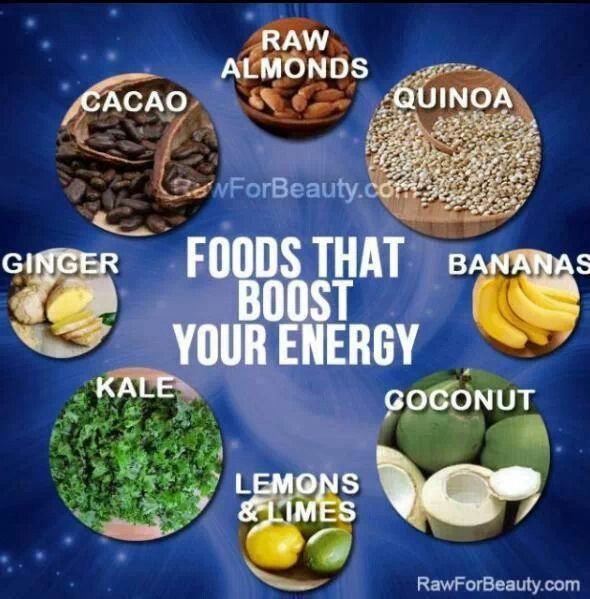 High energy foods