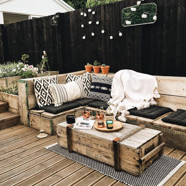 """⌯ Kacy // Wood Signs ⌯ on Instagram: """"oh my lanta - this patio!! @hygge_for_home is brilliant  • • • • • #yyc #textiles #handmade #handmadewithlove #mybohemianhouse…"""""""