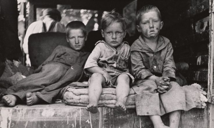 And you thought it was bad now... Never-before-seen pictures capture everyday life of destitute Americans during the Great Depression