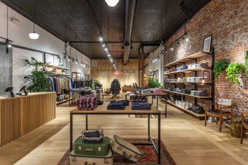 Frank & Oak Launch Flagship in Gastown, Vancouver, BC with 2 Barber Chairs (Man Cave Barber Shop Canada) & a Krokodile Pear juice bar.