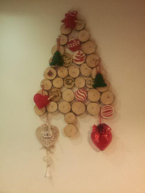 Albero di Natale dischi in legno