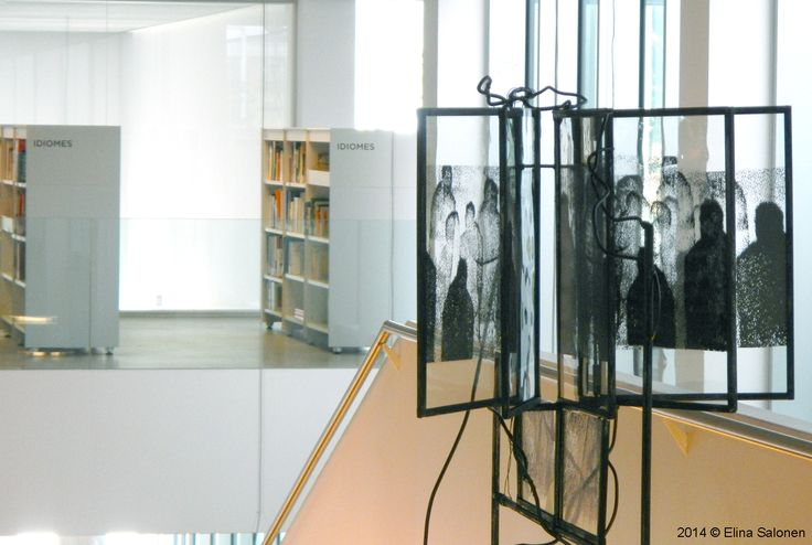 Huellas (Marks)   Library, Biblioteca Camp de l'Arpa-Caterina Albert, Barcelona, Spain