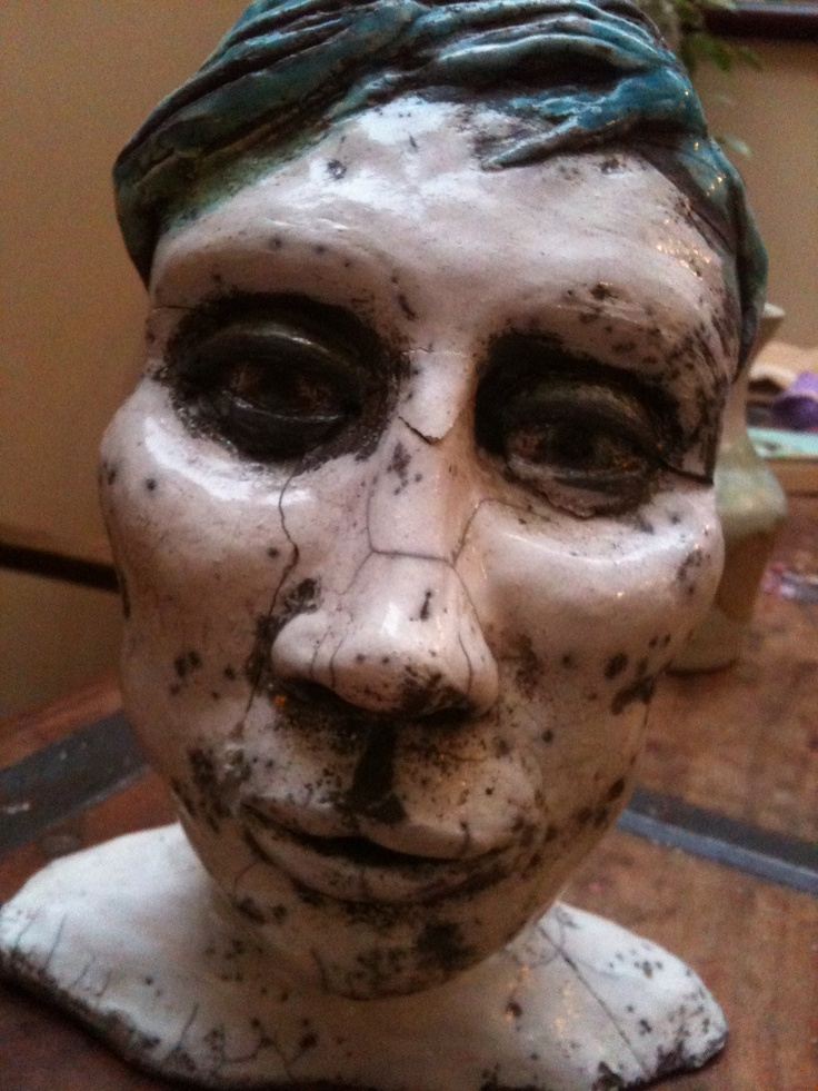 Androgynous Face sculpture..