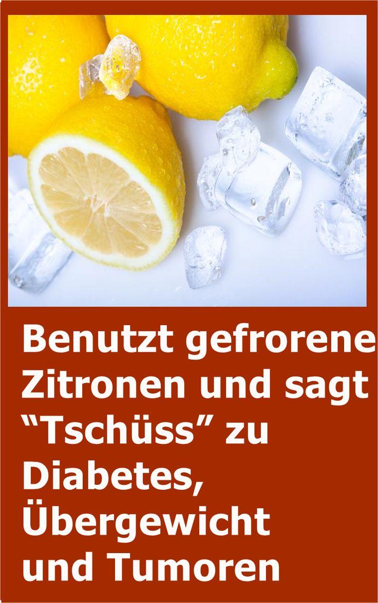 """Benutzt gefrorene Zitronen und sagt """"Tschüss"""" zu Diabetes, Übergewicht und Tum…"""