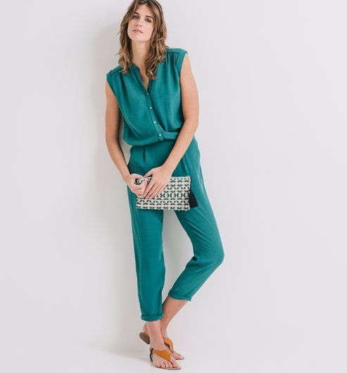 combinaison pantalon femme vert meraude promod mes. Black Bedroom Furniture Sets. Home Design Ideas