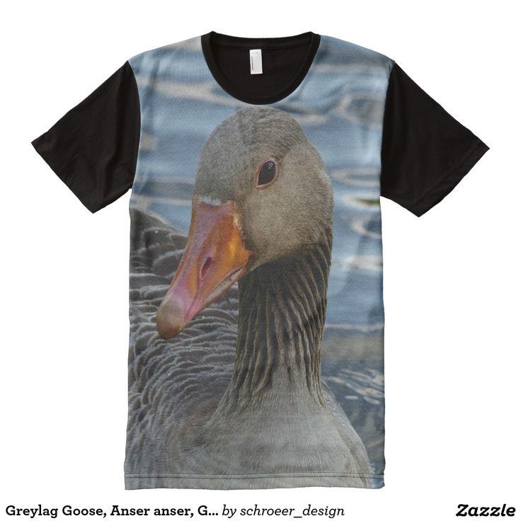 Greylag Goose, Anser anser, Graugans, All-Over Pri All-Over Print T-shirt