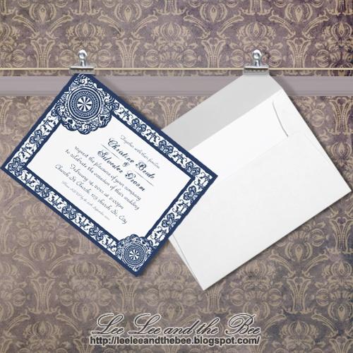 "SOLD! ""Arabesque Blue Lace"" #wedding #invitations --> http://su.pr/2s7ciH"