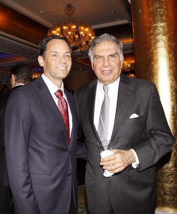 US Consul General Mumbai, Peter Haas with Chairman of Tata Sons, Ratan Tata at the U.S. National Day celebrations organized by the U.S. Consulate Mumbai at Taj Mahal Palace Hotel in Mumbai on Friday, August 26, 2011 | Flickr - Photo Sharing!