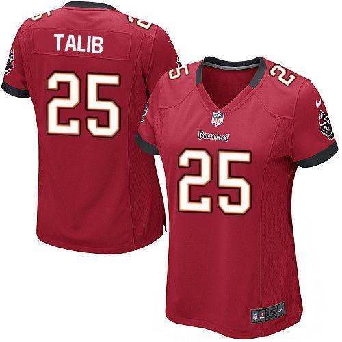 Women Nike Tampa Bay Buccaneers #25 Aqib Talib Limited Red Team Color NFL Jersey Sale