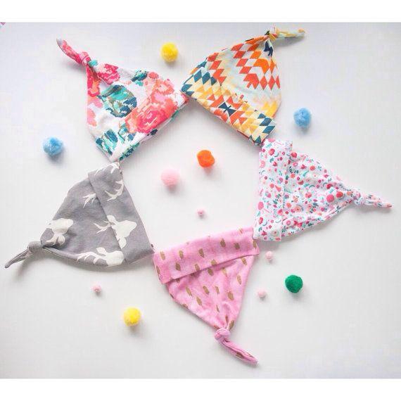 Baby knot hat kid beanie jersey knit art by ShopPamplemousse