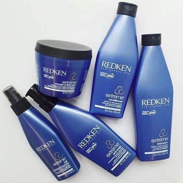 Use products from the Redken Extreme line to turn that forest fire into amber waves of grain.