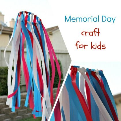 Memorial Day or 4th of July craft for kids.